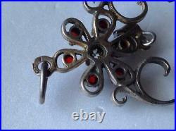 Huge Vintage Russian Soviet Pendant Sterling Silver 875 Gilt USSR, Womens Jewelry