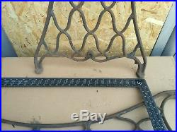 Industrial Design Table Cast Iron Base furniture 28 in Vintage retro