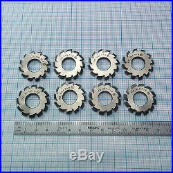Involute Gear Cutter Set M0,9 20° T1 HSS (1-8) Spline Modulfräser Zahnradfräser