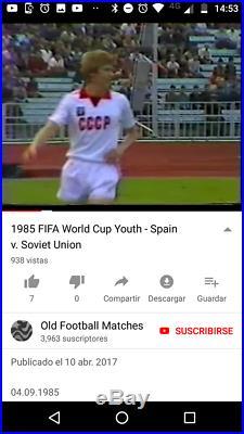 Jersey USSR Soviet Union Adidas 1983 MatchWorn