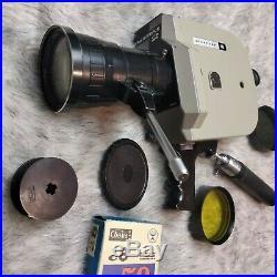 KRASNOGORSK 2 Movie Camera Soviet Union 16mm USSR lens Meteor 5-1 KMZ