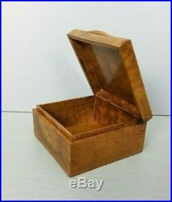 Karelian Birch Box Rare Russian Wood Soviet Union Vintage Rare Burlwood USSR Vtg