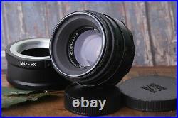 Lens HELIOS 44-2 2/58mm +adapter M42/FX, soviet lens Bokeh Portrait, Russian Lens