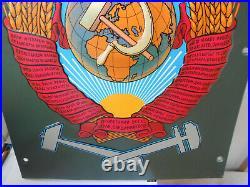 Lokschild Russland CCCP Zug-Blech-Schild UDSSR Hammer Sichel Stern Sowjetunion