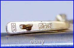 Luxury Vintage Soviet USSR Russian GOLD Earrings YAKUTIA Diamond 583 14K 0.28ct