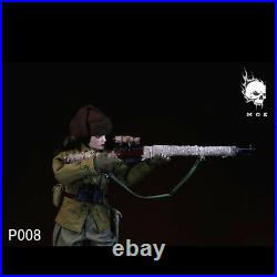 MOETOYS P008 1/6 Soviet Union Female Sniper With Snow Camouflag Action Figure