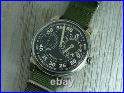 Molniya Regulateur mechanical Military Black Dial Soviet Era mens watch
