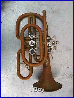Musical Instrument Brass Trumpet Vintage Original USSR
