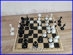 Olympic Soviet Chess set Russian Vintage USSR plastic antique. King 9.9 cm