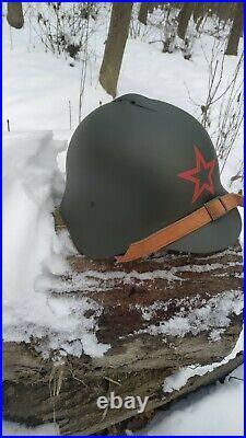Original Russian WWII SSH-36 SOVIET Union (USSR) Red Army Helmet M36
