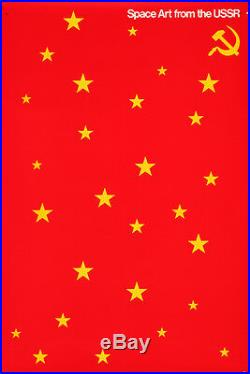 Original Vintage Poster Space Art USSR Soviet Union 1976 James Miho Russia Stars