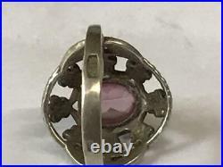 Original Vintage Soviet USSR Russian Antique Ring Sterling Silver 875 Size 8
