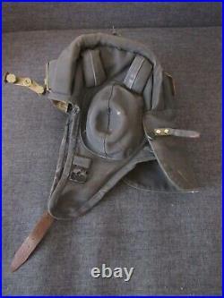 Original Vintage Soviet Union USSR Tankman Tanker Tank Cap Helmet. SUMMER