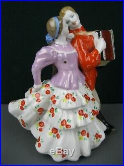Porcelain Figurine URAL QUADRILLE factory DULEVO Soviet Union Russian USSR 50s