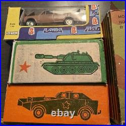 RAF, Lada, Army Scale model 1/43. Original box Made in USSR Lot Of 6
