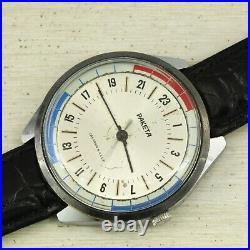 RARE USSR Polar Antarctic Submariner watch Raketa 24 Hours, PChZ Cal. 2623. H 19J