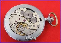 RARE Vintage Pocket watch Molnija Soviet Union USSR mechanical 3602 unique case