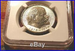 Rare Centennial Lenin 1970 Ussr Soviet Union Ngc Ms65 Russian Rouble Coin Russia