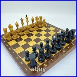 Rare Soviet Grossmeister Wood Chess Set Russian Vintage USSR Antique Tournament