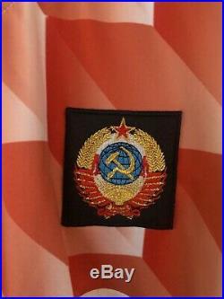 Rare Vintage 80s CCCP, Soviet Union, USSR adidas shirt, jersey 1986 1988 XL