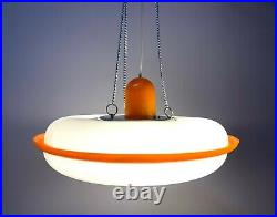 Retro Plastic Chandelier Soviet Vintage 1970s Ceiling Lamp, New Old Stock USSR
