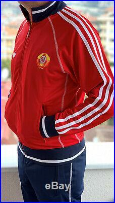 Rot Adidas Udssr Cccp Vintage Sowjet Union Russland Trainingsanzug 80 Olympiade