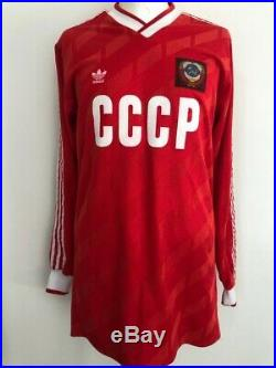 Russia Cccp Ussr 1987 #8 Litovchenko Match Worn Vintage Adidas Soviet Union