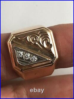 Russian Soviet Union 14 K Gold Men's Ring Size 10 8.2 Grams