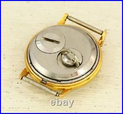 SLAVA TRANSISTOR (tranzistor) very rare tuning fork gold plated USSR wristwatch