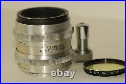 SOVIET LENS HELIOS-44 START Silver Carl Zeiss Biotar 2/58 Copy camera Start USSR