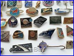 Set of 98 pcs. Pin Badge Space Travel Gagarin Astronauts of Soviet Union USSR