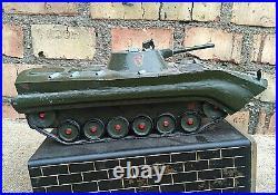 Souvenir Monument Steel Armor Panzer on Socle Vintage Soviet Russian USSR