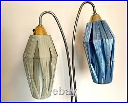 Soviet Retro Mid-Century Modern 1960s Floor 2 Lamp Atomic Space Floor Lamp USSR