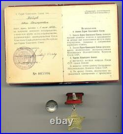 Soviet Russian WWII Hero of Soviet Union Star Medal #6528