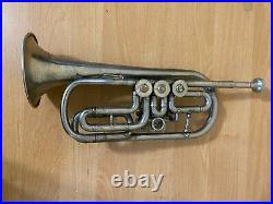 Soviet Trumpet Cornet Leningrad USSR Musical Wind Instrument Vintage and Rare