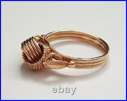Soviet Union Rose Gold Authentic Ring KNOTS 583/ 14K USSR, Armenia/Erevan