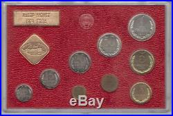 Soviet Union Russia Ussr Mint Unc Set 9 Coins 0,01 1 Rouble 1974 Year