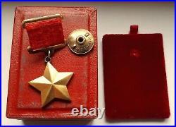 Soviet russia silver badge hero of soviet union