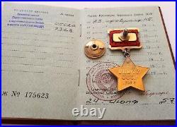Soviet russia silver badge of Order of Hero of Soviet Union