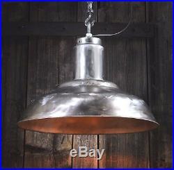 Steel Look 60er Alte Fabrik Industrie Lampe Hängelampe Metal LOFT LAMP Ø40cm
