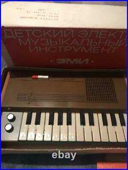 Synthesizer EMI Soviet Vintage Toy Piano USSR 1985 Original NEW