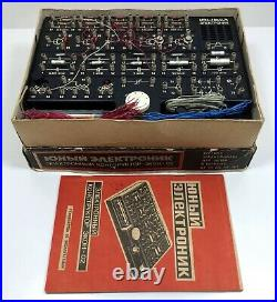 Toy USSR game Constructor electronic Soviet vintage Russian retro original lot
