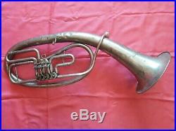 USSR Vintage Brass Trumpet Pipe Tuba Alt stigma. Old Rare. Soviet Union