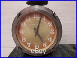 USSR Vintage Collectible Lightning Drum Shelf Crystal Mantel Clock Soviet Union