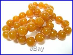 USSR Vintage NATURAL Baltic AMBER necklace 80 grams 70s Soviet Union Russia