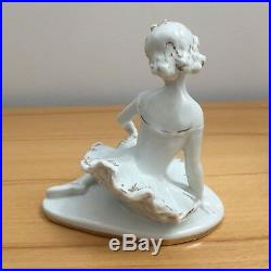 USSR porcelain ballerine, soviet union figurine, russian porcelain girl