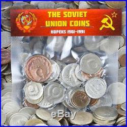 Ussr Soviet Union Russia Coins Kopeks 1961-1991 Mixed Bulk Lot Pounds Kilogram