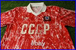 Ussr Soviet Union Team 1989-1991 Rare Football Shirt Jersey Home Adidas Original