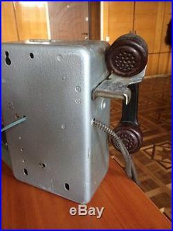 VINTAGE STREET payphone PHONE LAST CENTURY Soviet Union USSR Russia 1990