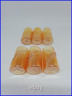VTG Antique Soviet USSR Russian Glass Set Decanter Carafe Vodka Shot 6 Cups 60's